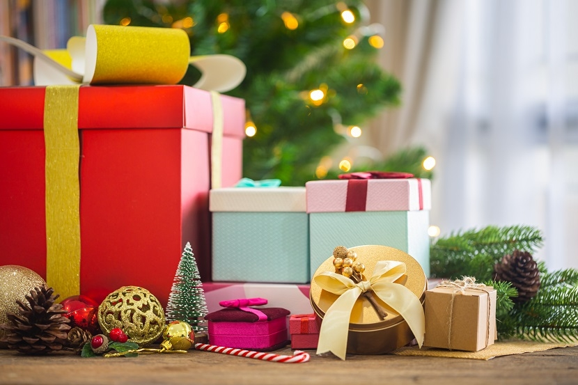 Christmas presents and wrapped gifts