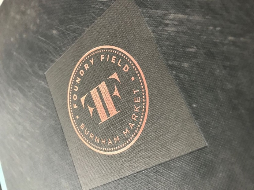 Foil stamped embossed page