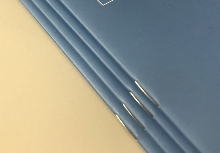 An example of our Saddle Stitching.