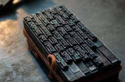Moveable type.